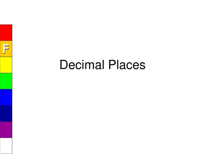 Decimal Places