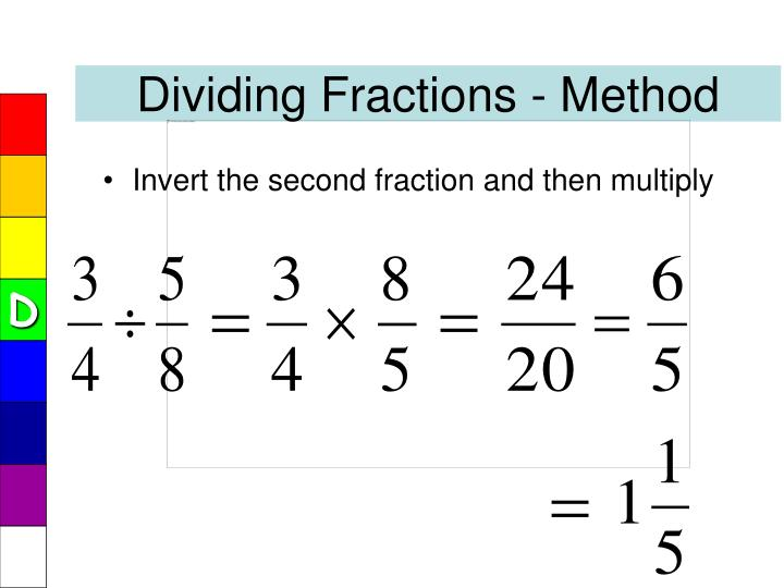 Dividing Fractions - Method
