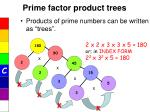 prime factor product trees