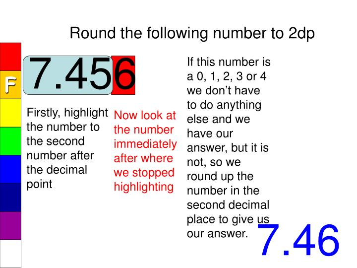Round the following number to 2dp