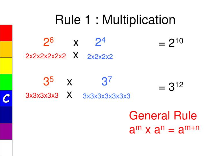 Rule 1 : Multiplication