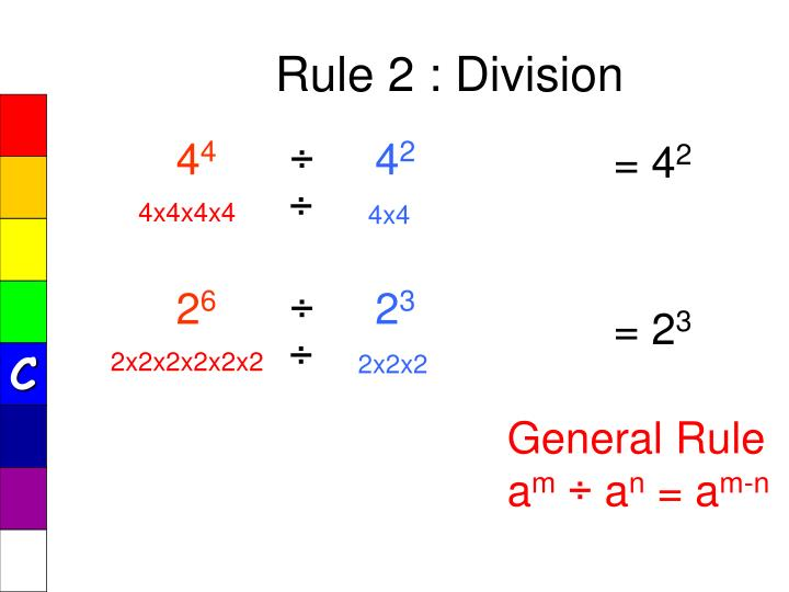 Rule 2 : Division