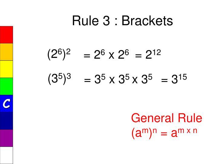 Rule 3 : Brackets