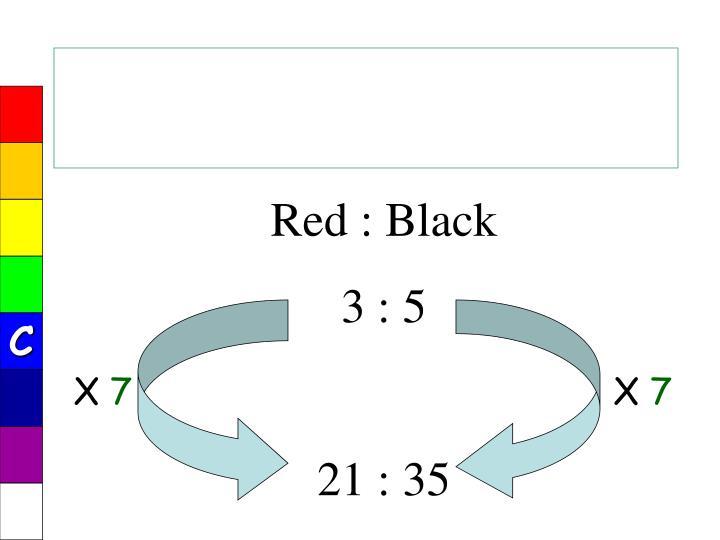 Red : Black