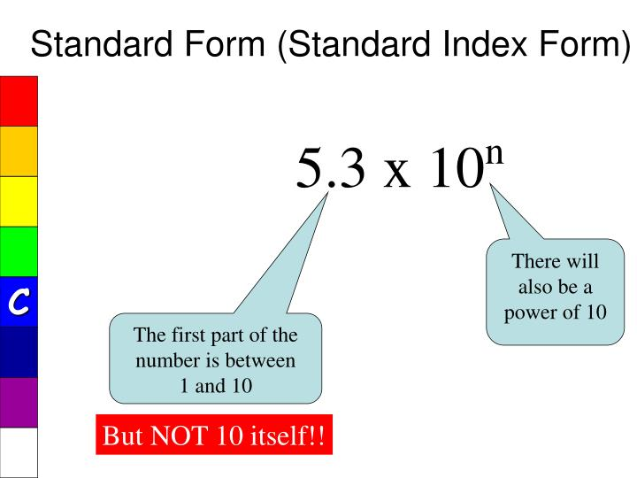 Standard Form (Standard Index Form)