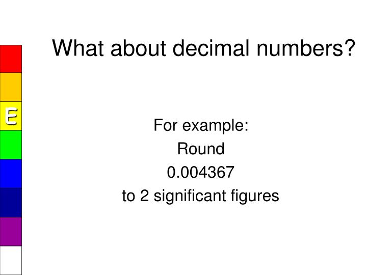 What about decimal numbers?