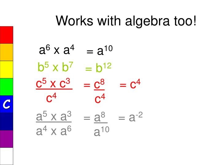 Works with algebra too!