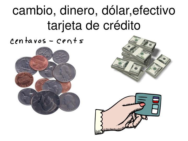 cambio, dinero, dólar,efectivo tarjeta de crédito