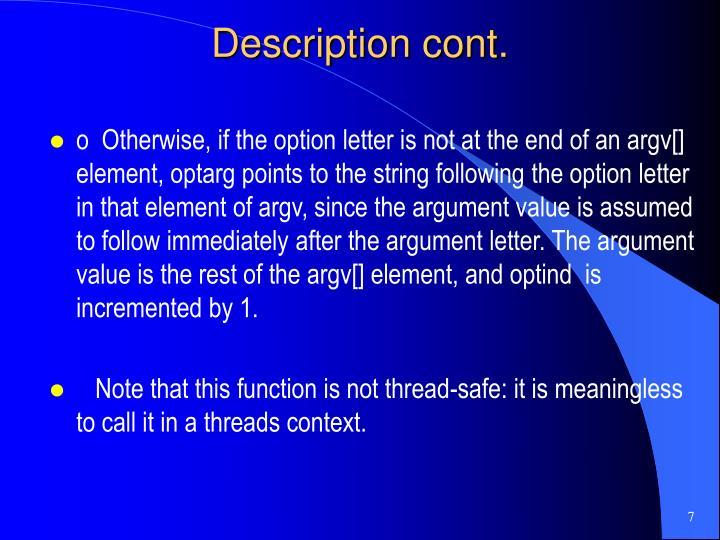 Description cont.