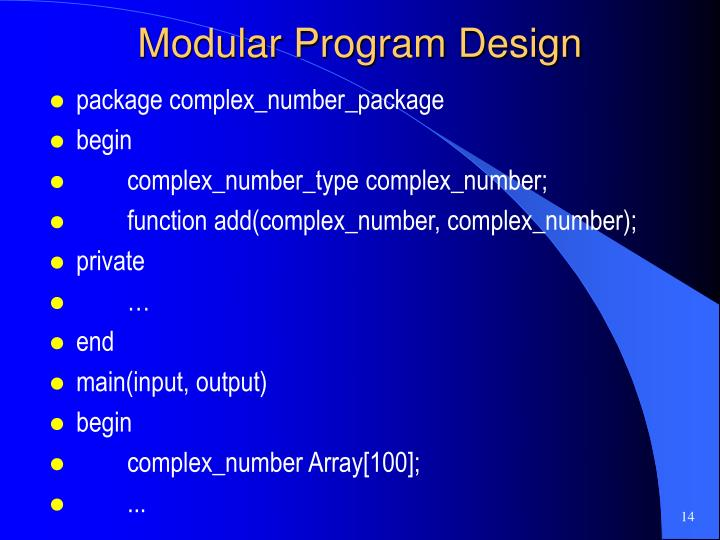 Modular Program Design
