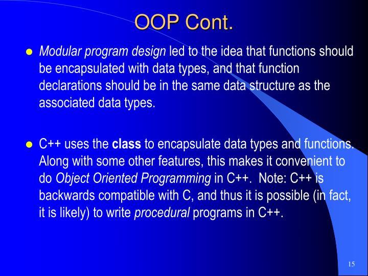 OOP Cont.
