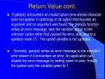 return value cont