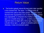 return value