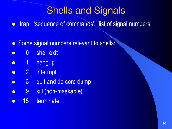 Shells and Signals
