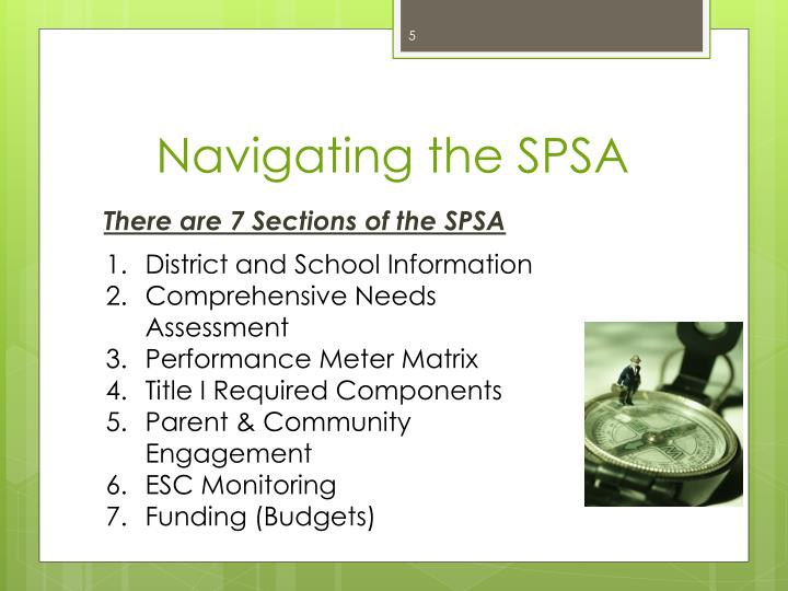 Navigating the SPSA