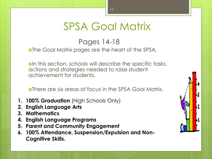 SPSA Goal Matrix