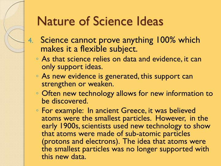 Nature of Science Ideas