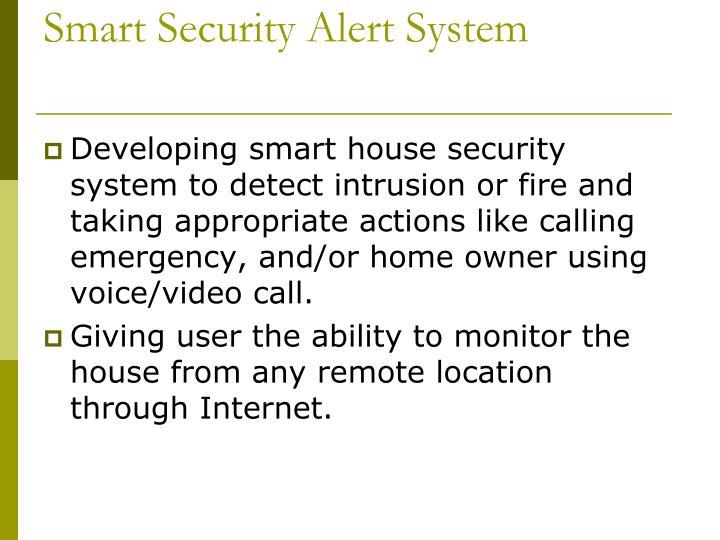 Smart Security Alert System