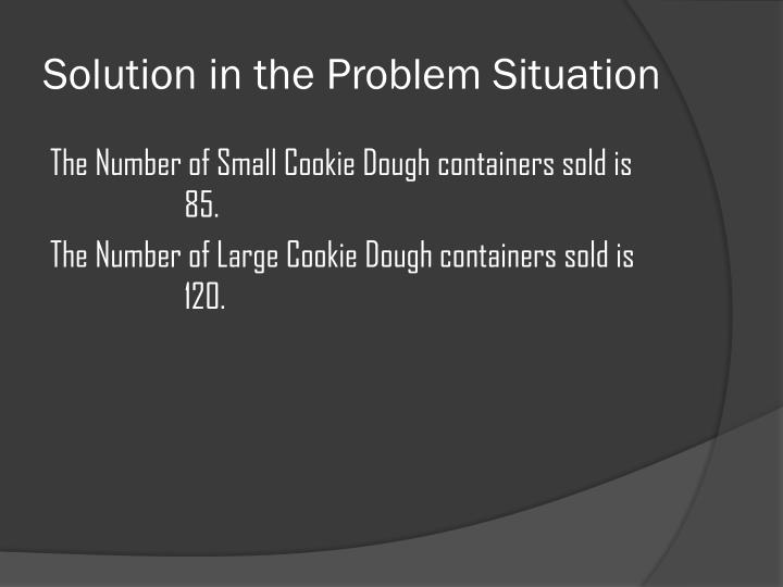 Solution in the Problem Situation
