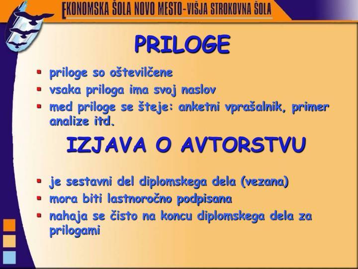PRILOGE