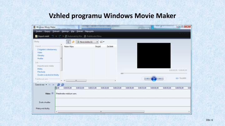 Vzhled programu Windows