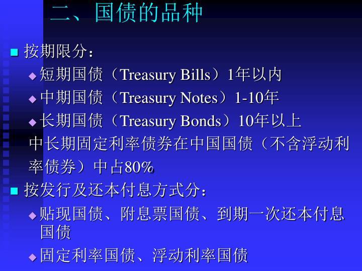二、国债的品种
