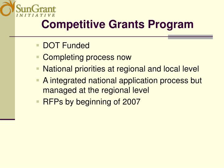 Competitive Grants Program