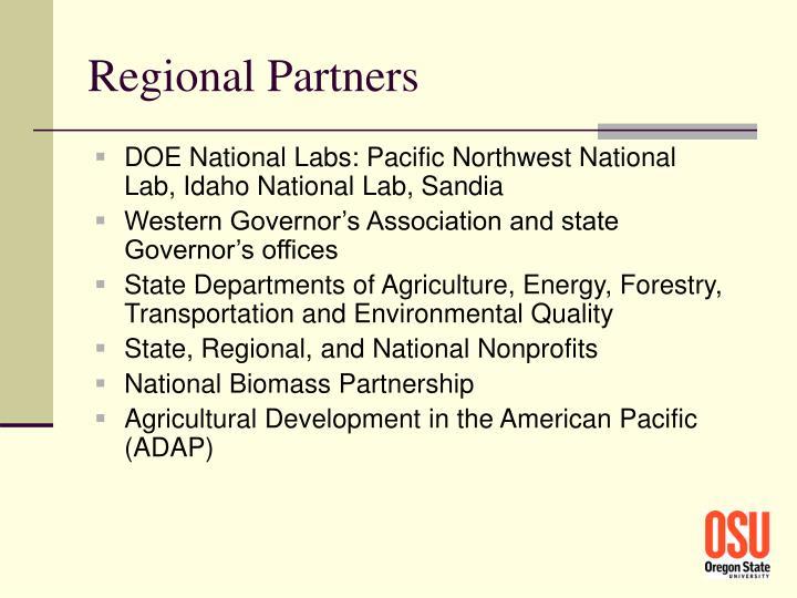 Regional Partners