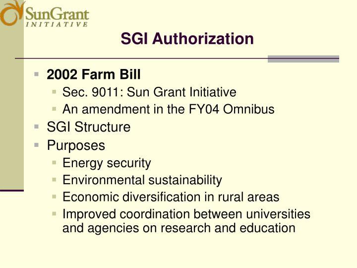 SGI Authorization