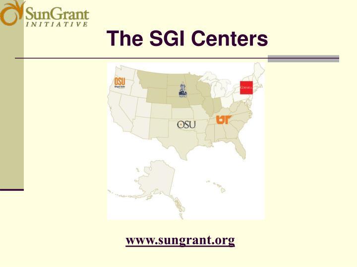 The SGI Centers
