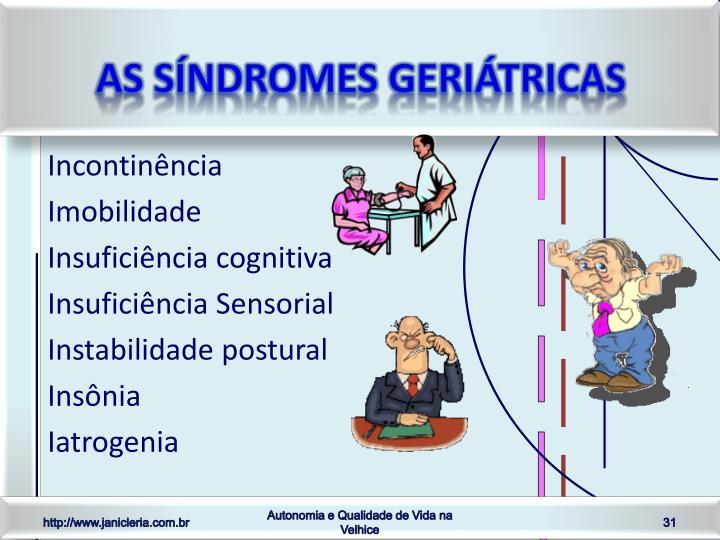 As Síndromes Geriátricas