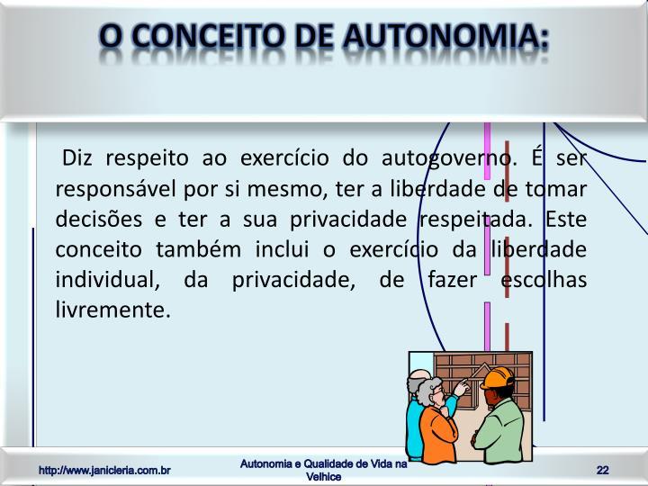 O conceito de autonomia