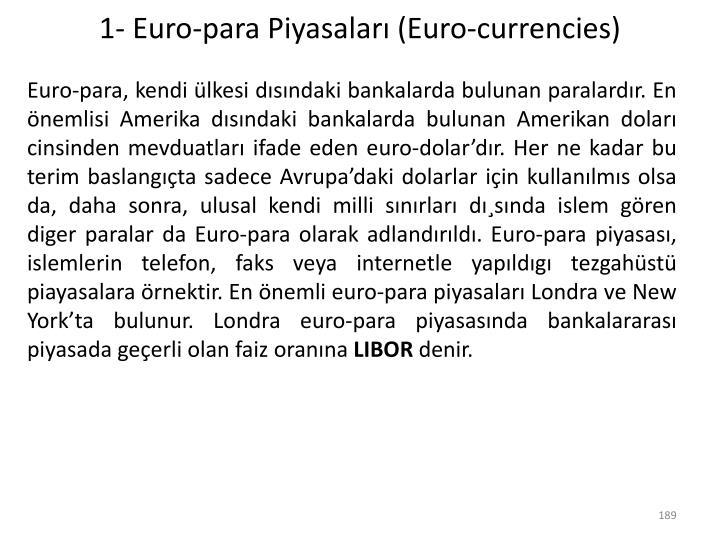 1- Euro-para