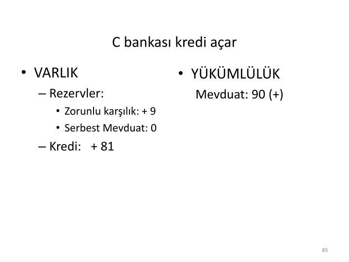 C bankası kredi açar