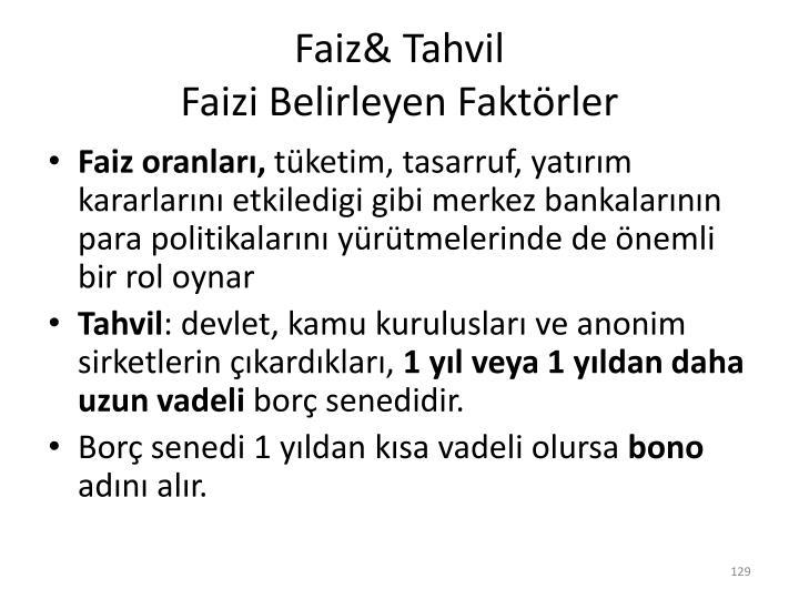 Faiz& Tahvil