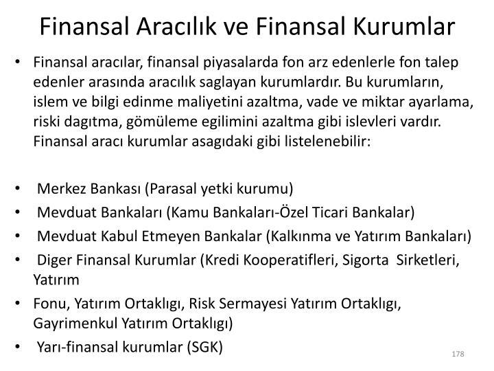 Finansal Aracılık ve Finansal Kurumlar