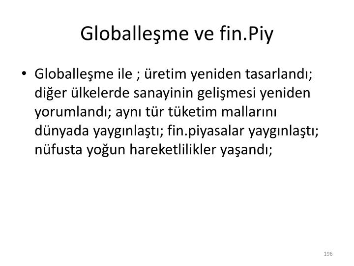 Globalleşme ve