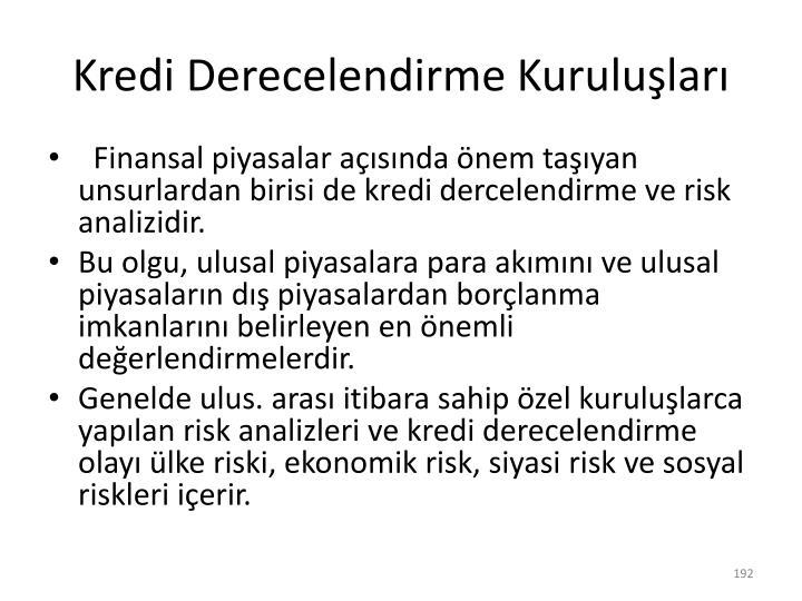 Kredi Derecelendirme Kuruluşları