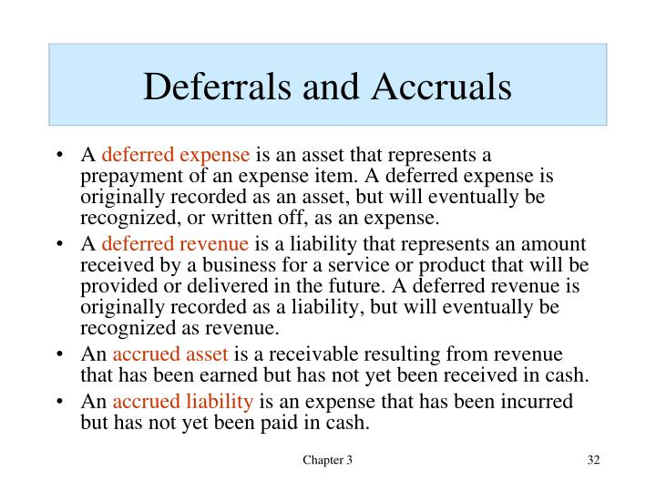 Deferrals and Accruals