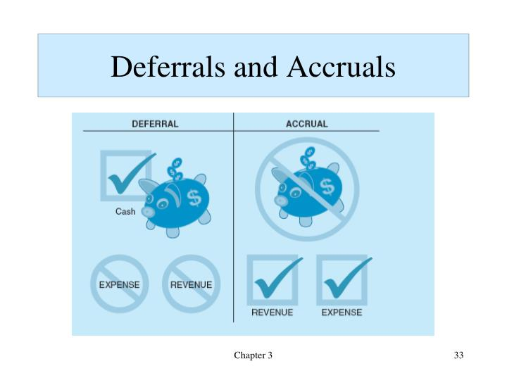 Deferrals and Accruals
