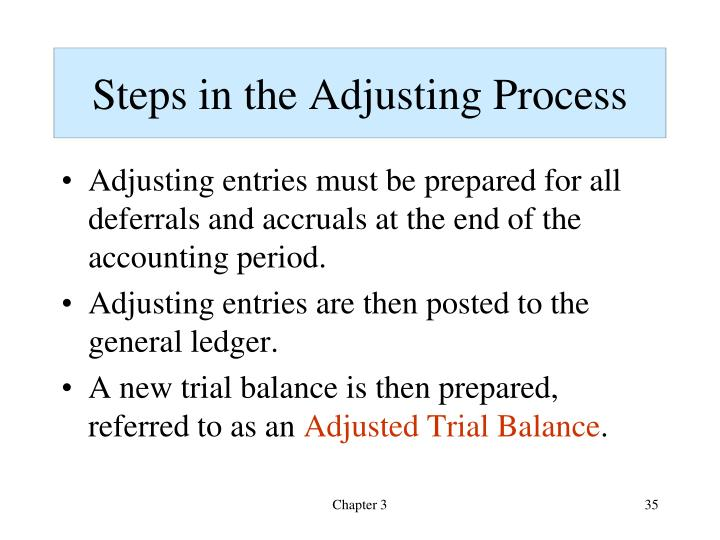 Steps in the Adjusting Process