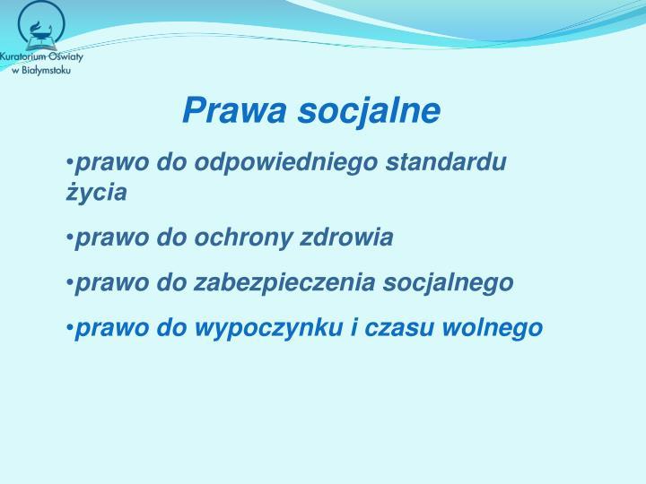 Prawa socjalne