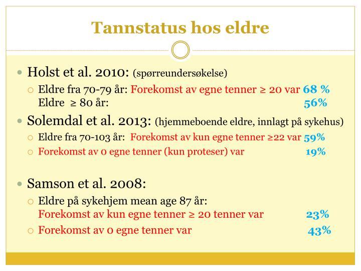 Tannstatus hos eldre