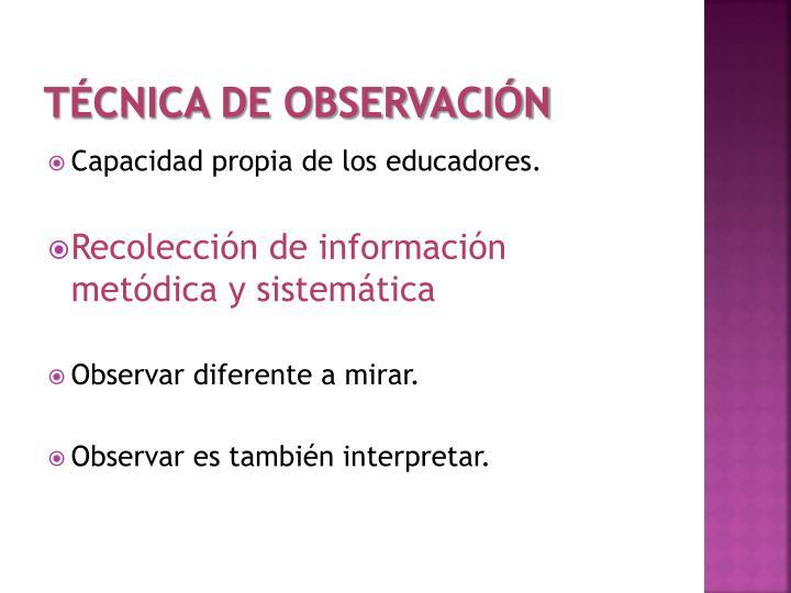 Técnica de Observación