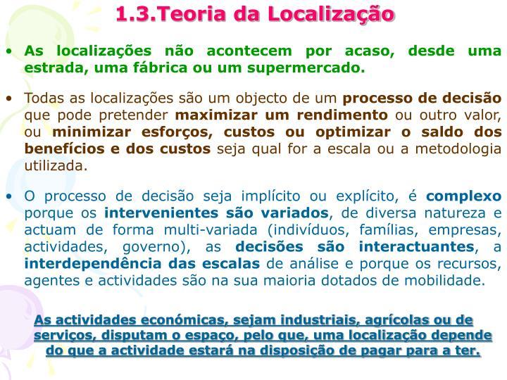 1.3.Teoria da Localização