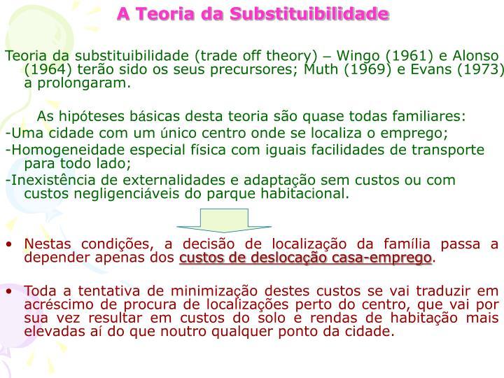 A Teoria da Substituibilidade