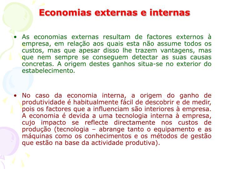Economias externas e internas