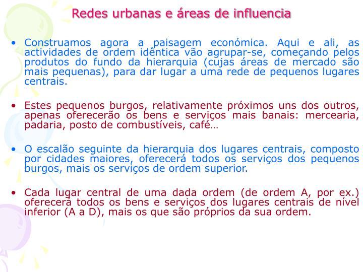 Redes urbanas e áreas de influencia