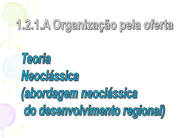 1.2.1.A Organização pela oferta