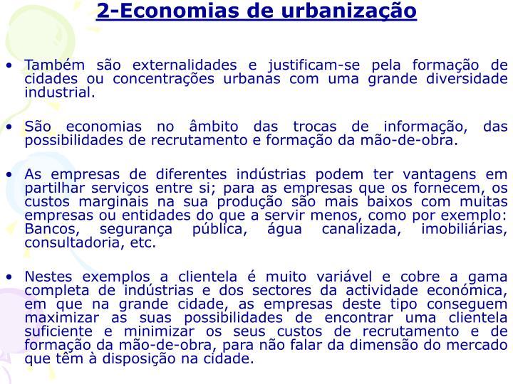 2-Economias de urbanização